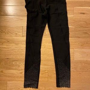 Lululemon black leggings with detailed bottom
